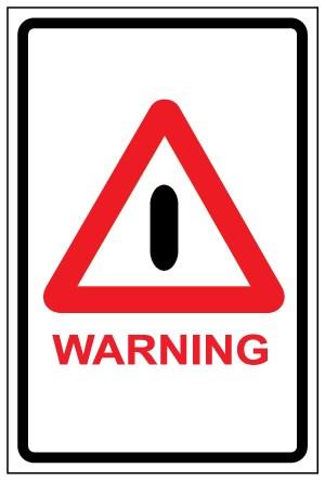 สติ๊กเกอร์ WARNING